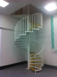 exterior elegant spiral staircase design with black metal stair