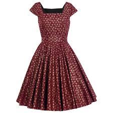 burgundy dress christmas dress gold christmas tree dress romantic