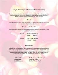 christian wedding programs what to include in your wedding program