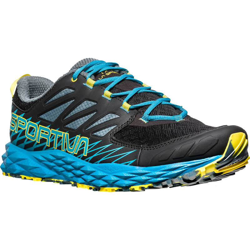 La Sportiva Lycan Trail Running Shoe Black/Tropic Blue 42 36K-999614-42