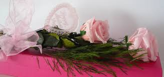 Flowers For Mum - pink preserved roses with stems roses bouquet for mum flowers