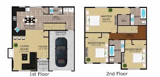 Color Floor Plan Bedroom Medium 2 Bedroom Apartments Floor Plan Dark Hardwood