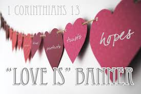 valentines banner 1 corinthians 13 is banner and valentines craft