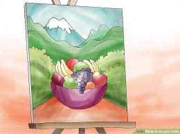 how to acrylic paint with pictures wikihow