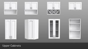 3d model shaker style modular customizable kitchen cabinets 16