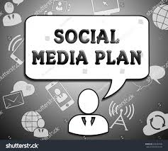 social media plan icons means networking stock illustration