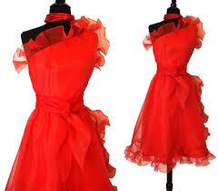 vintage 50s 1950s dynamic one shoulder asymmetrical red dr u2026 flickr