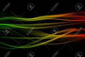 Green Black Red Flag Abstract Background Smoke Curves And Wave Reggae Colors Green