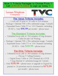 the trifecta packages tvc lennon telephone company
