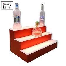 led lighted bar shelves step shelf 2 step led lighted bar shelves with led 3 tier acrylic