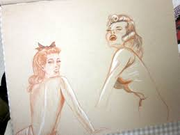 owings art studio pin up sketches sketchbook