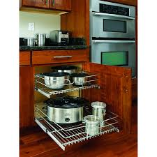 Kitchen Pull Out Cabinet Shop Rev A Shelf 20 75 In W X 19 In H Metal 2 Tier Pull Out