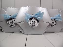 nightmare before baby shower invitation baby boy blue