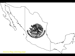 Printable Flag Mexico Flag Coloring Page With Printable Mexico Flag Coloring