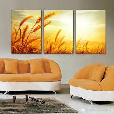Landscape Canvas Prints by 2017 No Frame Canvas Print Barley Wheat Field Grassland Peacock