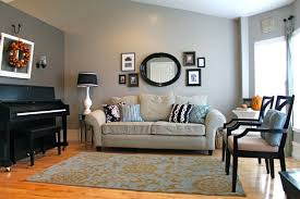 beige and blue contrast walls color on the couch wall glidden