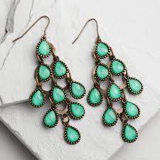 earrings world turquoise chandelier earrings world market