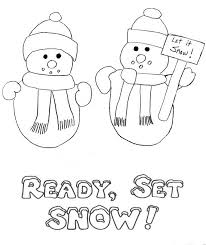 three snowman winter coloring pages winter coloring pages of
