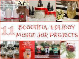 beautiful holiday mason jar projects