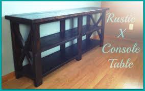 rustic x console table rustic x console table youtube