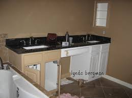 Bathroom Furniture Wood Lynda Bergman Decorative Artisan Painting White Bathroom Cabinets