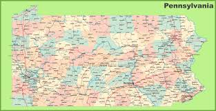 Washington State County Map by Road Map Of Pennsylvania With Cities