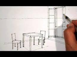dessiner une chaise dessiner en perspective intérieure table chaises fenêtre dessin