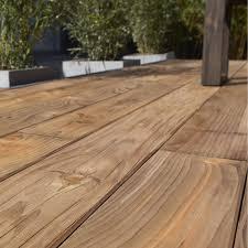 terasse en palette planche bois douglas natérial marron l 250 x l 14 cm x ep 27 mm