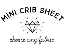 mini crib sheets etsy