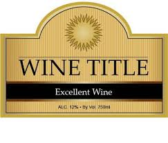 editable label pdf great for custom wine bottle labels and