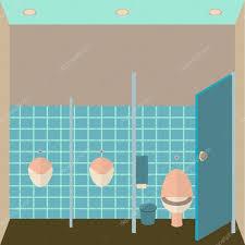 toilet interior vector illustration public lavatory in flat