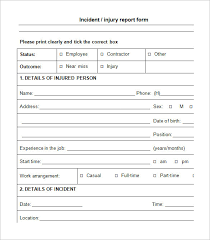 incident summary report template incident report template incident report all form templates