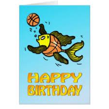 funny basketball birthday greeting cards zazzle com au