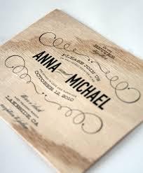 Make Wedding Invitation Cards Wonderful Wood Wedding Invitations Theruntime Com