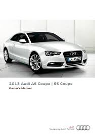 2013 audi a5 coupe s5 coupe u2014 owner u0027s manual u2013 294 pages u2013 pdf