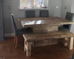 Chunky Rustic Dining Table Rustic Dining Table Etsy