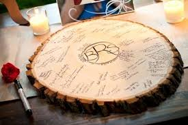 wedding guest sign in ideas diy wood slice guest book