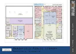 Community Center Floor Plans by Building Connections Capital Campaign For Marshfield Library And