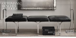 Leather Ottomans Ottomans Benches Stools Rh