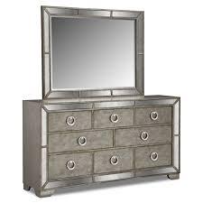arts crafts dark bedroom dresser mirror value city furniture and