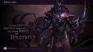 happy halloween hd wallpaper halloween dragon age origins demon wallpaper 9567