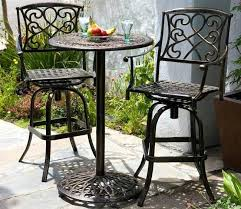 high top patio table and chairs bistro patio sets chronicmessenger com