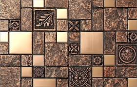 copper kitchen backsplash tiles copper tiles for kitchen backsplash rustic brown resin copper tile