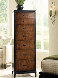 Small Dresser For Bedroom Bedroom Vertical Brown Wood Narrow Dresser With 7 Drawers For