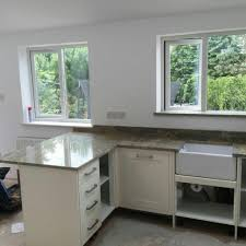 Kitchen Wall Units Granite Countertop Cream Kitchens With Wood Worktops Microwave