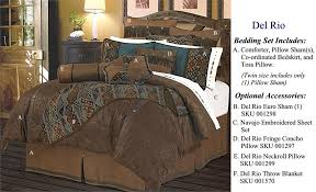 Western Bedding Set Faux Tooled Leather Chocolate Comforter Set