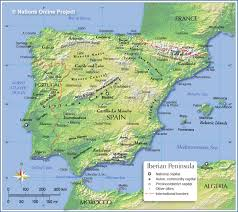 Map Of Spain And Italy by Topographic Map Of Spain Nations Online Project