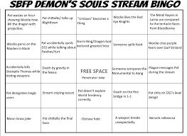 my own demon u0027s stream bingo sheet template by ricj85