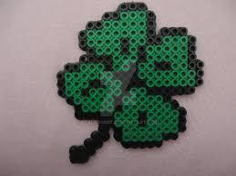 four leaf clover perler design perlier pony bead patterns