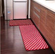 Bathroom Rug Runner Washable Ustide 2 Polka Dots Kitchen Rug Set Kitchen Memory Foam